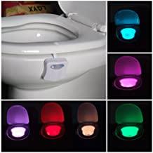 Veilleuse LED pour les toilettes et les salles de bains - Fonctionnement avec des piles - Détecteur de mouvement
