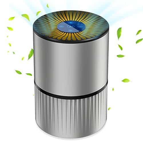 Purificateur d'Air Anion, Air Ioniseur Maison avec Filtre à Charbon, 5 filtrations