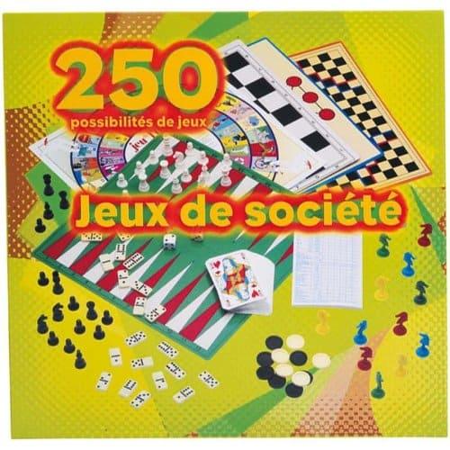 Partner Jouet - A1001590 - Jeu de Société - Coffret - 250 Jeux Société