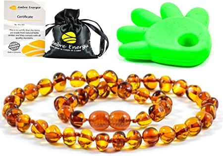 Collier Ambre 33cm. - 100% Plus Haute Qualité Certifié l'Ambre la Baltique Authentique Collier Perles de Plus Gros!!